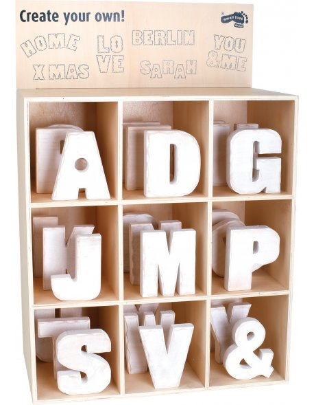 Display Letras de madera, grande