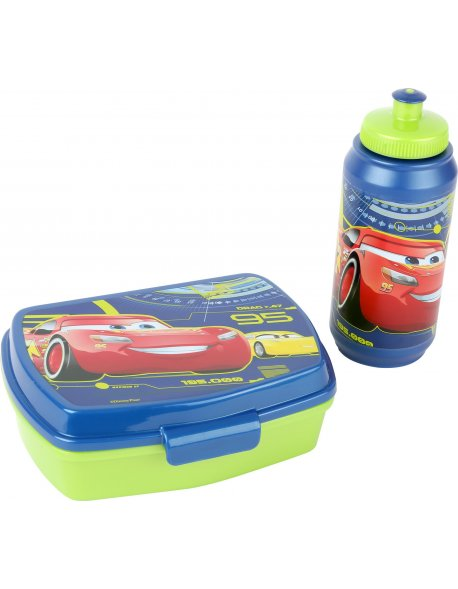 Set Disney Cars con táper y botella
